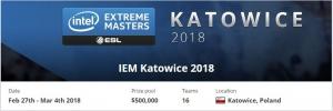 IEM卡托维兹站分组及首轮对阵公布
